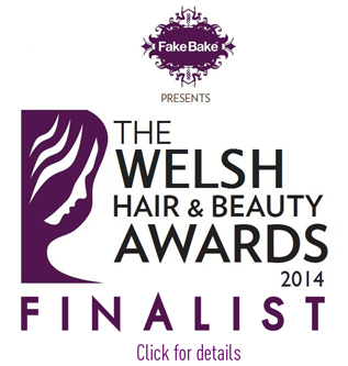 Masseuse of the Year Finalist badge from Welsh Hair and Beauty Awards 2014