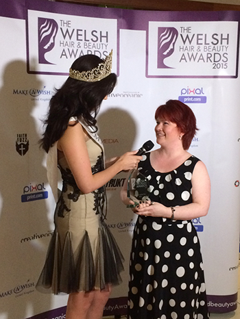 Masseuse of the Year 2015, Denise Owen Massage Therapy - pictured here with Miss Wales 2015