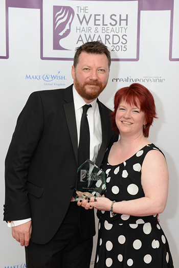 Best Massage Therapist in Wales 2015, Denise Owen massage Therapy - seen here with husband, Neill