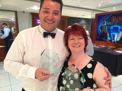 Stuart Baldwin Capelli Salons Bridgend, and Me, Denise Owen Massage Therapy - both Winners!